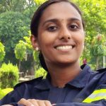 Remya: the first woman airport firefighter from South India.